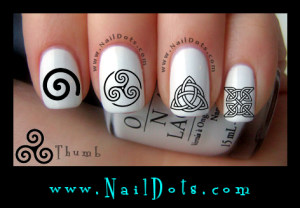 Celtic Symbols Nail Decals