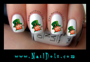 Leprechaun Nail Decals