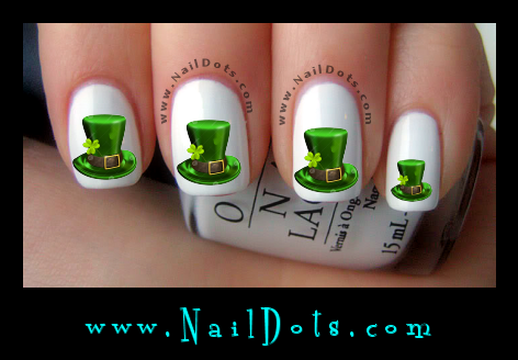 Leprechaun Top Hat Nail Decals