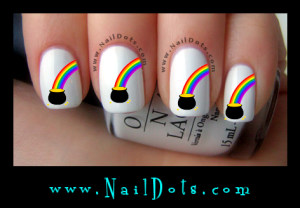 Pot of Gold Nail Decals