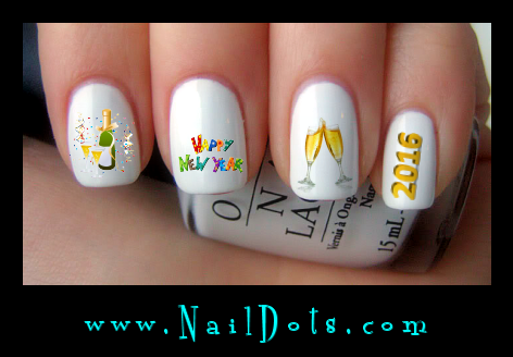 New Years Eve Nail Decals