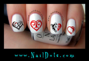Tribal Heart Nail Decals
