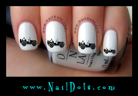 Mud Truck Nail Decals
