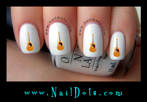 Acoustic Guitar Nail Decals