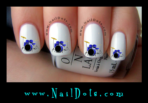 Drum Nail Decals