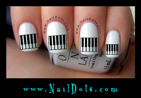 Piano Keys Nail Decals