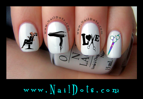 Hair Dresser Nail Decals