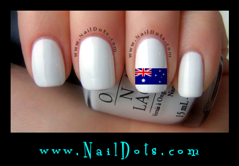 Australian Flag Nail Decals