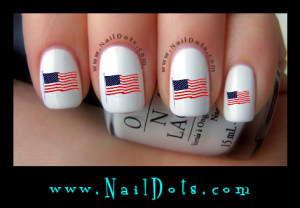 American Flag Nail Decals