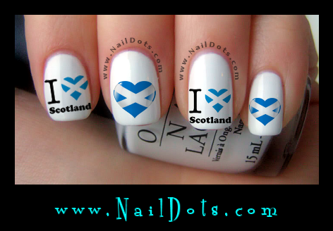Scotland Nail Decals