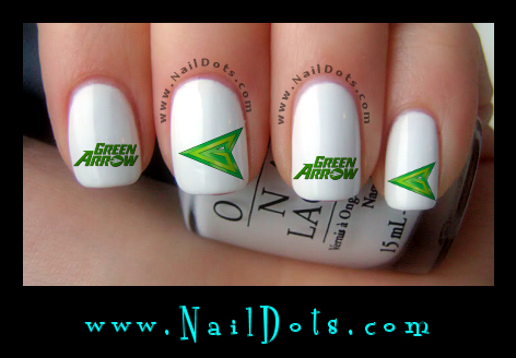 Green Arrow Comic Nail Decals