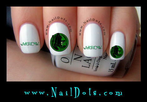 Green Arrow Nail Decals