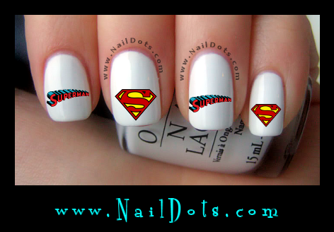 Superman Nail Decals
