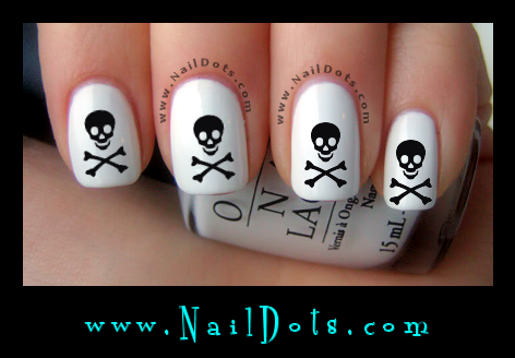 Skull & Cross Bones Nail Decals