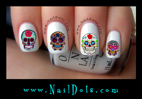 Sugar Skulls 2 nail decals