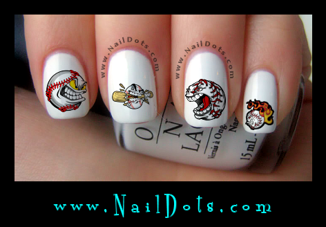 baseball Nail Decals