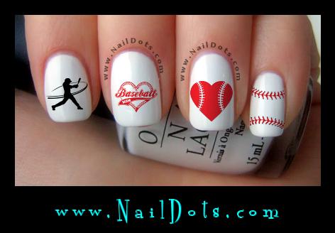 Sport nail decals nail decals nail dots nail stickers nail baseball nail art prinsesfo Gallery