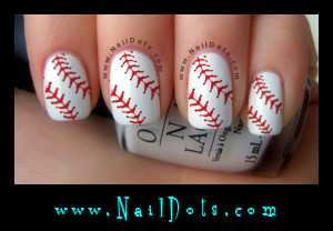 baseball lace nail decals