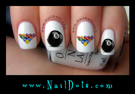 Billiard nail decals