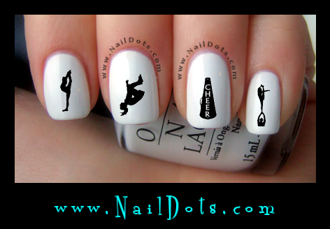 Cheer nail decals