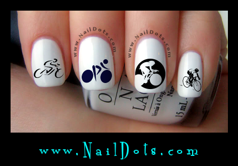 Cycling nail decals