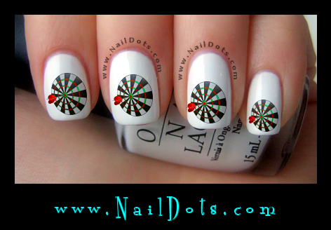 Dart Board nail decals