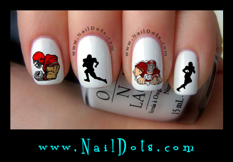 Football Nail Decals Nail Decals Nail Dots Nail Stickers