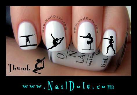 Gymnastics nail decals
