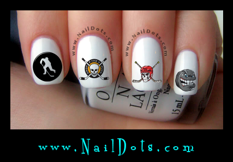 Hockey nail decals