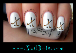 Hockey sticks nail decals