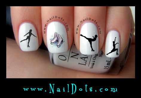 Ice Skating nail decals