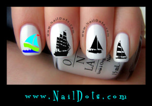 Sailing nail decals