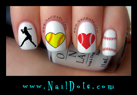 Softball Nail Art