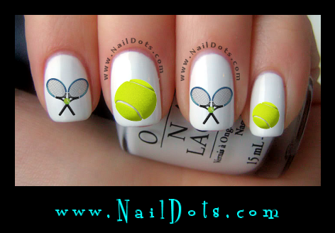 Tennis nail decals