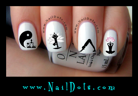 Yoga nail decals