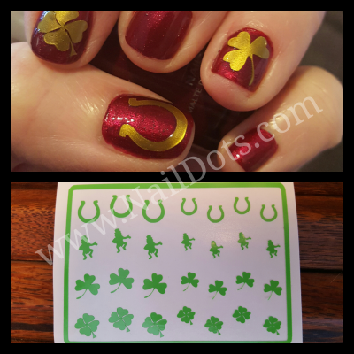 St Patricks Vinyl Nail Decals