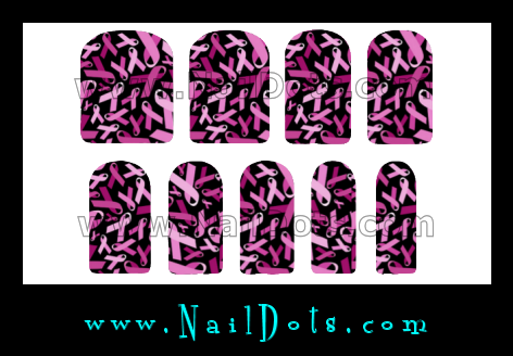 Breast Cancer Nail Wraps