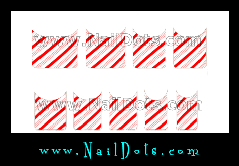 Candy Cane Nail Tips