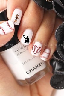 Baseball Nail Decals (Catcher Set)