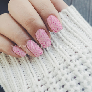 Breast Cancer Nail Wraps or Nail Tips - Light