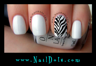 Zebra Nail Wraps or Nail Tips