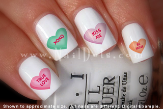 Candy Heart Nail Decal