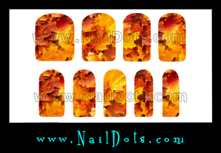 Fall Leaves Nail Wraps or Nail Tips - 3