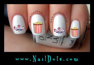 Popcorn Nail Decal