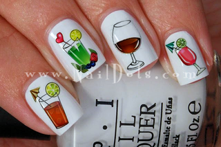 Classic Drinks Nail Decal
