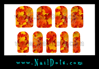 Fall Leaves Nail Wraps or Nail Tips - 1