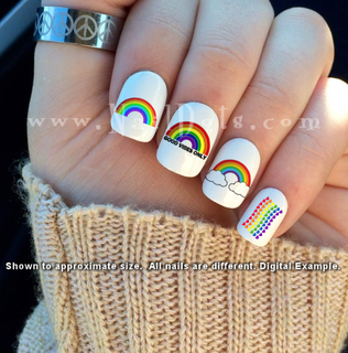 Rainbow Nail Decal