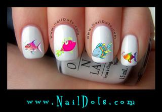 Tropical Fish Nail Decals