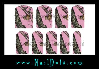 Pink Camo Nail Wraps TPC - CLEARANCE