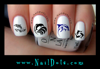 Dolphin Set 2 Nail Decal